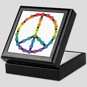 peace chain vivid Keepsake Box