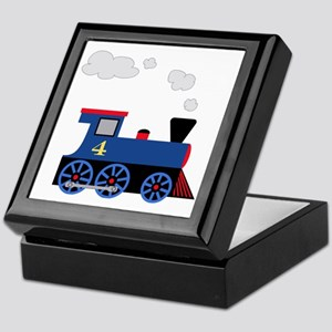 train age 4 blue black Keepsake Box