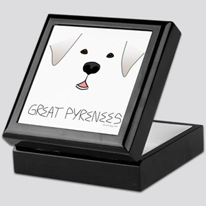 GreatPyreneesFace Keepsake Box