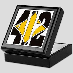 412 Black/Gold-W Keepsake Box
