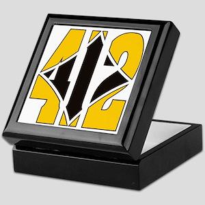 412 Gold/Black-W Keepsake Box