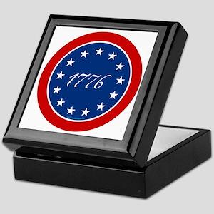 btn-patriot-1776-13stars Keepsake Box