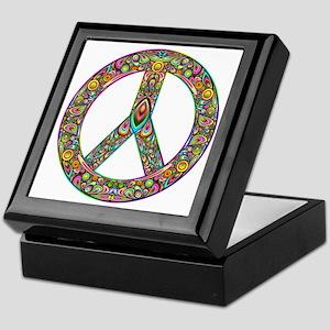 Peace Symbol Psychedelic Art Design Keepsake Box