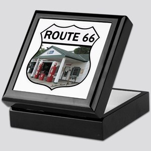 Route 66 - Amblers Texaco Gas Station Keepsake Box