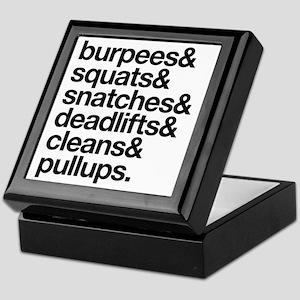 Crossfit Essentials Black Text Keepsake Box