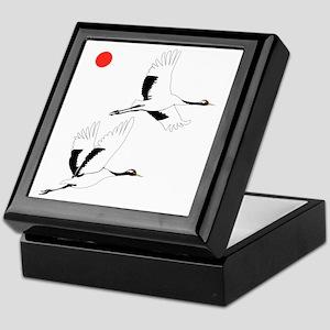 Soaring Cranes Keepsake Box