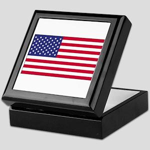 American Flag Keepsake Box