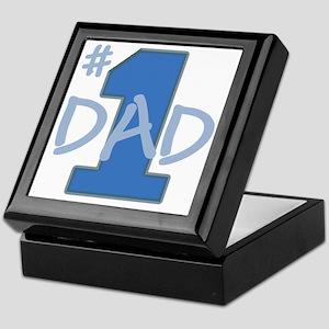 # 1 Dad blue gray Keepsake Box