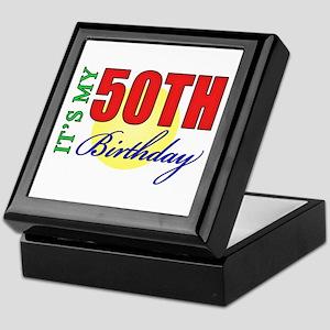 50th Birthday Party Keepsake Box