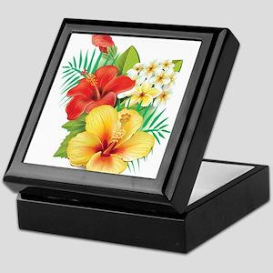 Tropical Hibiscus Keepsake Box