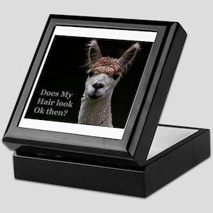 Alpaca with funny hairstyle Keepsake Box
