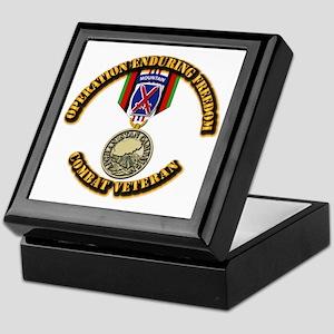 Operation Enduring Freedom - 10th Mtn Keepsake Box