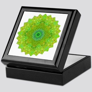 Green Yellow Earth Mandala Shirt Keepsake Box