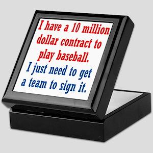 baseball-contract1 Keepsake Box