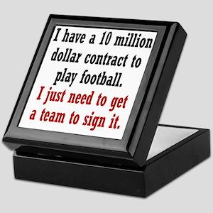 football-contract2 Keepsake Box