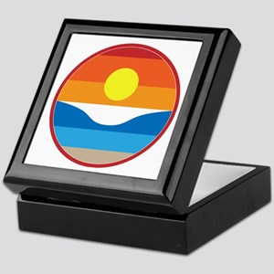 Horizon Sunset Illustration with Cras Keepsake Box