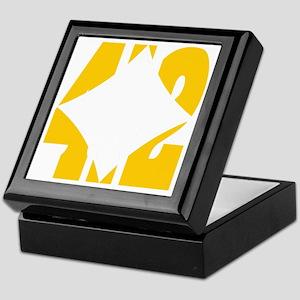 412 Gold/Whilte-D Keepsake Box