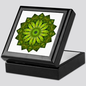Green Flower Heart Chakra Mandala Yog Keepsake Box