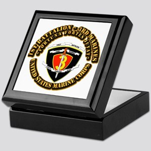 SSI - 1st Battalion - 3rd Marines With Text USMC K