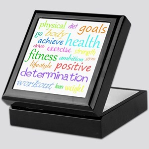 fitness words Keepsake Box