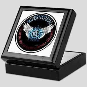 Supernatural  protection Symbal Wings Keepsake Box