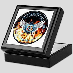 Supernatural  protection Symbal Flame Keepsake Box