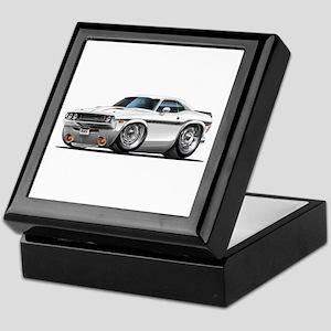 Challenger White Car Keepsake Box
