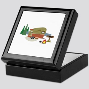 Camping Trailer Keepsake Box