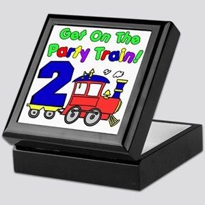 Get On The Party Train 2 Year Old Keepsake Box