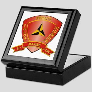 USMC - HQ Bn - 3rd Marine Division Keepsake Box
