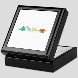 Prehistoric Medley Border Keepsake Box
