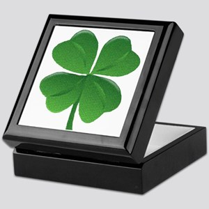 St Patrick Shamrock T Keepsake Box