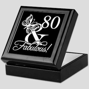 Fabulous 80th Birthday Keepsake Box