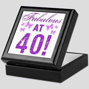 Fabulous 40th Birthday Keepsake Box