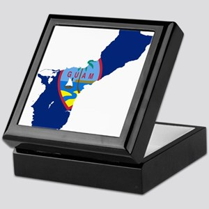 Guam Flag and Map Keepsake Box