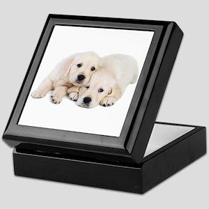 White Labradors Keepsake Box