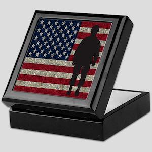 Usflag Soldier Keepsake Box