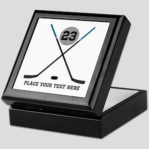 Ice Hockey Personalized Keepsake Box