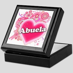 Abuela Heart Art Keepsake Box
