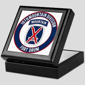 10th Mountain Ft Drum Keepsake Box