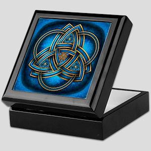 Blue Celtic Triquetra Keepsake Box