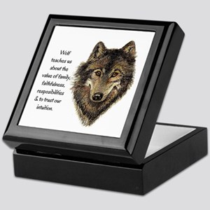 Wolf Totem Animal Guide Watercolor Nature Art Keep