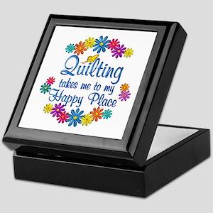 Quilting Happy Place Keepsake Box