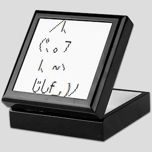 Text cat Keepsake Box