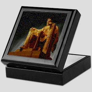 Lincoln Memorial Mosaic Keepsake Box