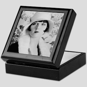 louise brooks silent movie star Keepsake Box