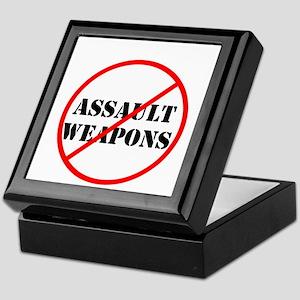 No assault weapons, gun control Keepsake Box