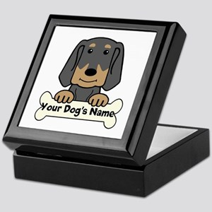 Personalized Black & Tan Coonhound Keepsake Box