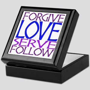 Forgive Love Serve Follow Keepsake Box
