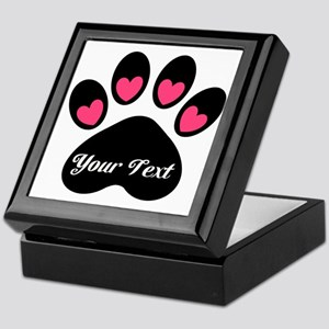 Personalizable Paw Print Keepsake Box